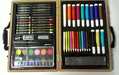 Cased Artists 67 piece Sketching Colouring Painting Drawing Art Set New in box