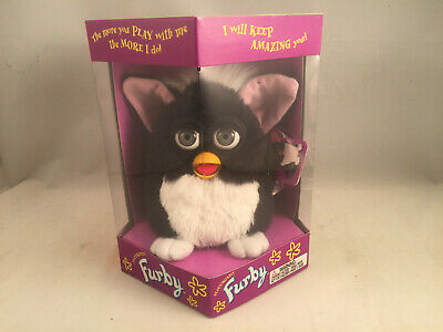 First Run Skunk Furby (1998) Tiger Electronics Black & White ABSOLUTELY MINT!