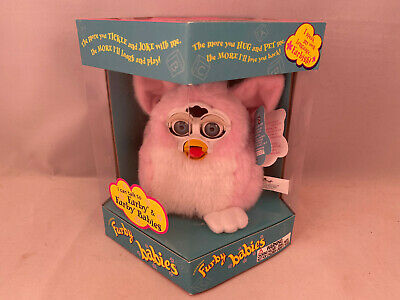 """Furby Babies """"Baby Pink"""" w/ Blue Hair  (1999) ABSOLUTELY MINT!"""