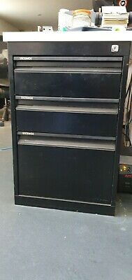 Low Height Statewide steel 3 Drawers filing cabinet - Black x 6