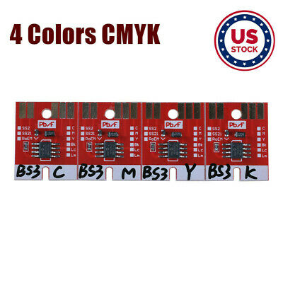 US Stock-Chip Permanent for Mimaki JV33 BS3 Cartridge 4 Colors CMYK