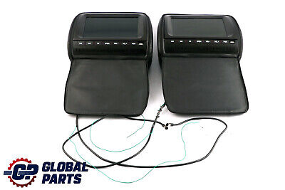 "BMW Universal Leather Headrest Screens 8,5"" DVD USB Interface"