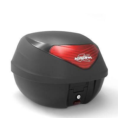 Kappa 29 Litre Monolock Motorcycle Scooter Top Case (Black with Red Reflectors)