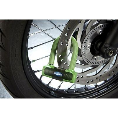 Squire Motorcycle Motorbike Eiger Sold Secure Gold Mini Disc Lock - Green