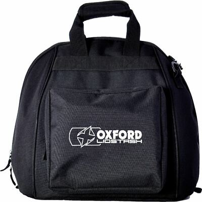 Oxford OL260 Lidstash Motorcycle Helmet Bag Lid Deluxe Fleece Storage- Black