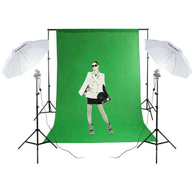 1250W Éclairage continu Studio Kit Softbox Fond avec Sac de Transport 10x6.5ft