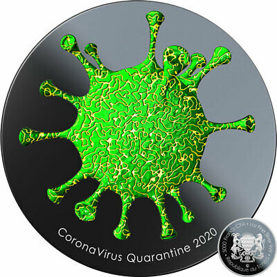 $12 Off Coupon Chad QUARANTINE COVI-19 CORON VIRUS Silver coin 2020 Proof 1 oz