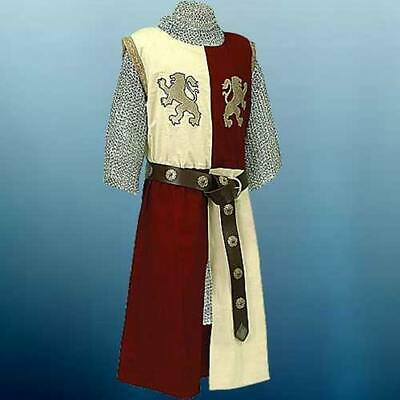 MEDIEVAL KNIGHT LION HEART Tunic Surcoat Crusader Sleeveless Renaissance LARP