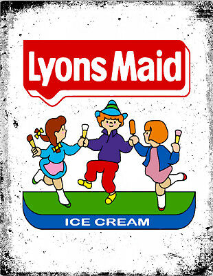 Lyons Maid Ice Cream Metal Lolly Advertising Retro Vintage Kitchen Cafe Pub SIGN