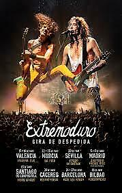 Pack 2 entradas Tickets Extremoduro Pista A Madrid 6 de junio