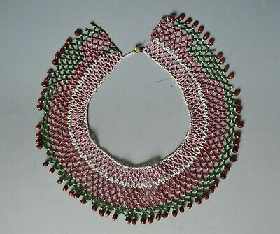 African tribal  antique Zulu bead work  Necklace South Africa