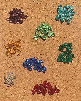 JOB LOT 150 Pieces Pear Cut Crystals 10mm x 6mm For Crafters/Jewellers