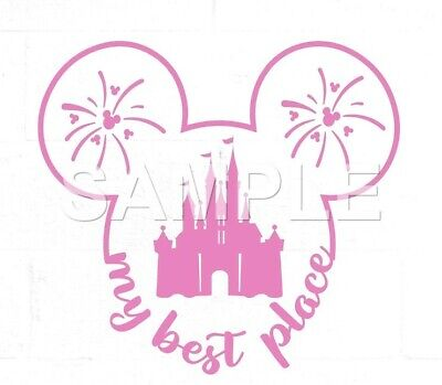 Disney VINYL  iron on transfer (any color)