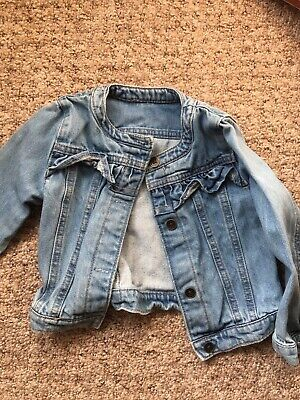 Cute Denim Jacket Girls 2-3 Years M&S, Great Condition!
