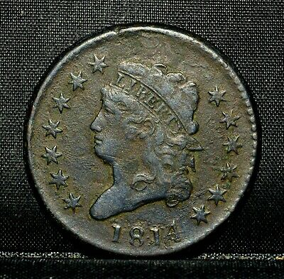 1814 Classic Head Large Cent ✪ Xf Details ✪1C Extra Fine Plain 4 Det ◢Trusted◣