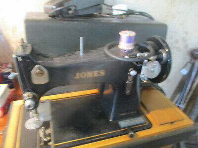 vintage 1950 jones fam d 53a sewtrick elect Sewing Machine, with case/foot pedal