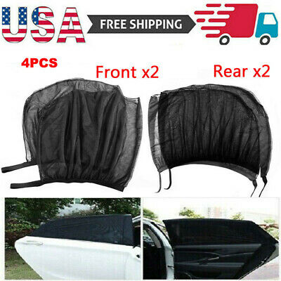 4Pcs Sun Shade Front & Rear Window Screen Cover Sunshade Protector Car US
