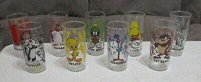 1996 Looney Tunes Warner Bros Store Character Glass Tumblers Lot ~ NEW