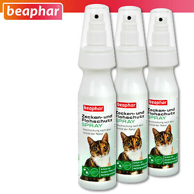 Beaphar 3 x 150 ML Ixodes Et Protection Anti-puce Spray pour Chats