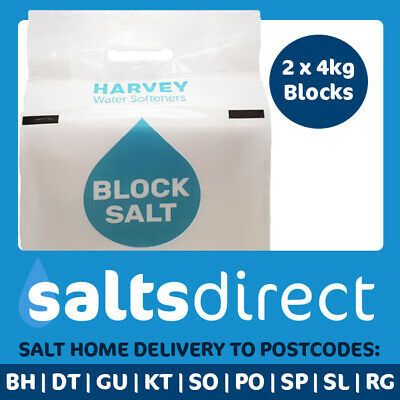 Harveys Block Water Softener Salt 10 x 8kg Packs - Free Delivery to 5 Counties