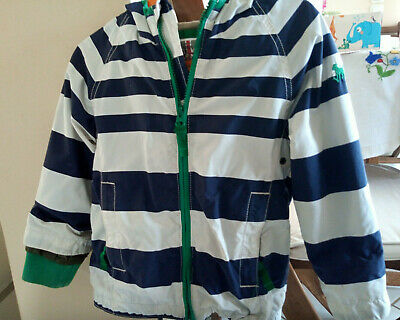 Mini Boden boy or girl light cotton lining hooded jacket for 3-4 years
