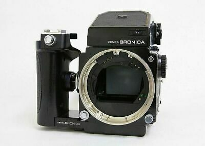 Bronica ETR Medium Format Film Camera with AE Prism Finder & Grip Great F/S