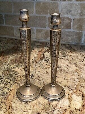 Vintage - M. Fred Hirsch -  2 Sterling Silver -  Candlestick Holders