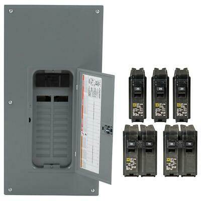 Square D 200-Amp 20-Spaces 40 Circuit Main Breaker Plug-On Neutral Load Center
