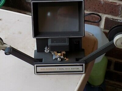 Vintage GOLDCREST DUAL  8mm Film  Editor in Box W/Manual WOW!