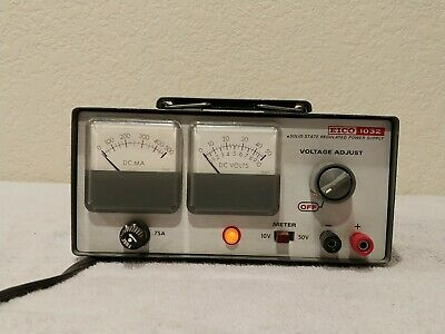 Eico Model 1032 Solid State Adjustable Regulated Power Supply-Works