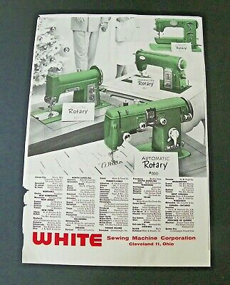 1956 White Sewing Machine Ad