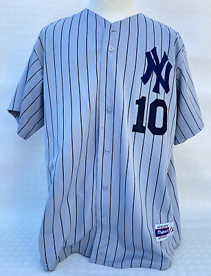 Véritable Jersey NY New York Yankee #10 Majestic Made in USA Vintage