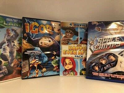 Children's Animated DVD Lot Igor Space Chimps Planet 51 + More Free Shipping