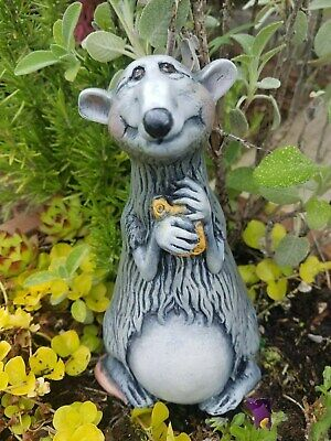 Rat Mouse Spring Garden Hand Painted Ceramic Adorable Home Interior