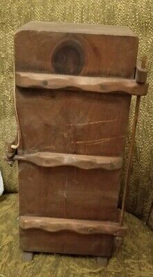 Vtg primitive box with quill pen and ink bottle