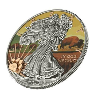 USA 2019 $1 US National Park - WIND CAVE 1 Oz Silver Coin, only 99pcs