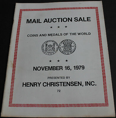 Vintage - Coins, Medals & Paper Money Of The World Henry Christensen 1979 Scarce