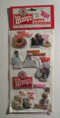Vintage Wendy's 1984 Where's The Beef Puffy Stickers MIP #5
