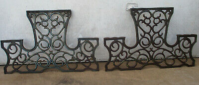 Super Rare Vintage, Ornate, Cast Iron, Bench Ends. Very Solid