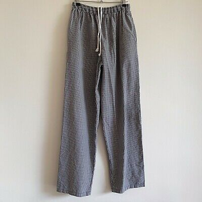 vintage black and white gingham pants trousers drawstring cotton