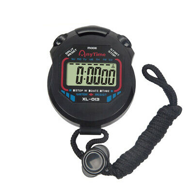 Digital Professional Handheld LCD Stopwatch Sports Chronograph Timer Coaches