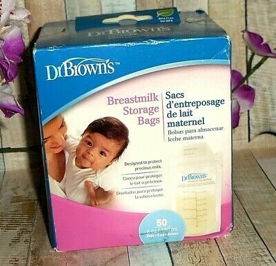 50 Count ~ Dr. Browns Breastmilk Storage Bags ~ Fast Shipping!