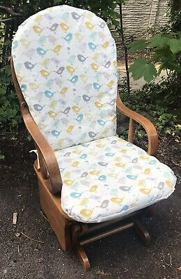 Glider/ Rocking Chair With Padded Seats