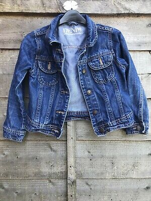 girls denim jacket age 7-8