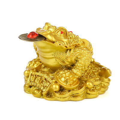 EY_ Oriental Fortune Chinese Frog Coin Feng Shui Toad Money Lucky Home Office Su