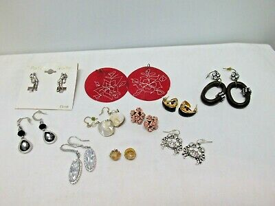 Lot of 10 Vintage To New Pierced Earrings, Great Variety, Great Value, #45g