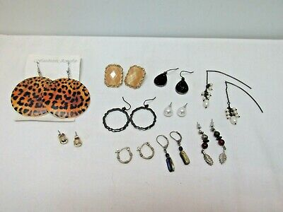 Lot of 10 Vintage To New Pierced Earrings, Great Variety, Great Value, #46g