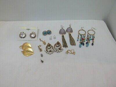 Lot of 10 Vintage To New Pierced Earrings, Great Variety, Great Value, #47g