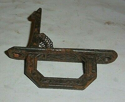 Antique Cast Iron East Lake Spring Loaded Cupboard Door Handle Latch 3 5/8 In.