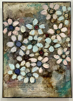"""Artist Trading Cards ACEO Cards Original Painting Flowers Pastels   2.5"""" X 3.5"""""""